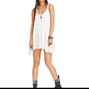Free People Voile and Lace Trapeze Slip Dress S
